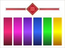 Ttemplate  color gradient. Shine satin ribbon. Stock Photography