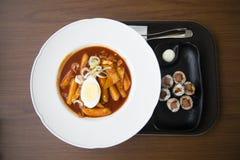 Tteokbokki coreano dell'alimento Fotografia Stock Libera da Diritti