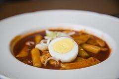 Tteokbokki coreano dell'alimento Immagini Stock