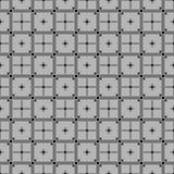 Tterns z kwadrat liniami i krzyżami Klasyczny czarny i biały bezszwowy pa Obraz Royalty Free