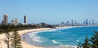 Têtes de Burleigh - Australie de la Gold Coast Photos libres de droits