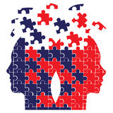 Têtes de puzzle Photos stock
