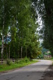 Tthe Carpathians village Royalty Free Stock Photos