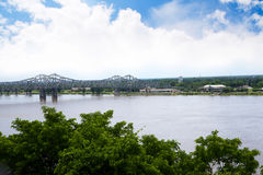 Tthe Mississippi River at Natchez under the Hill in Royalty Free Stock Photos