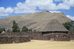 TThe remains of the Inca buildings Royalty Free Stock Photography
