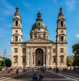 The St. Stephen's Basilica in Budapest. Budapest / Hungary - October 8 2018: The west façade of the St. Stephen's Basilica, in Szent István té royalty free stock photo
