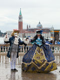 Tthe Venetian carnival 2015. Venice, Italy - February 01, 2015: The city in celebration during the famous carnival. Masks have always been an important feature Stock Photo