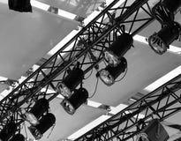 Ttheater metallische Stufeleuchte Lizenzfreies Stockbild