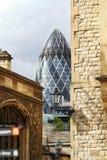 Ättiksgurkan från tornet av London Arkivfoto