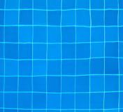 Ttiles at the bottom of a swimming pool Stock Image
