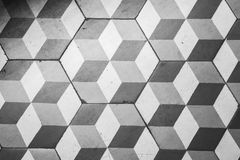 Ttiling on the floor, retro style cubic pattern Royalty Free Stock Photo