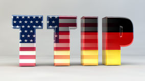 TTIP Freihandelsabkommen Politik Deutschland USA Royalty Free Stock Photography