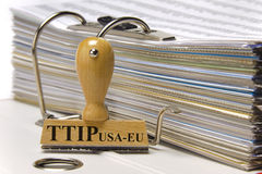 TTIP-frihandelsavtal Arkivfoton