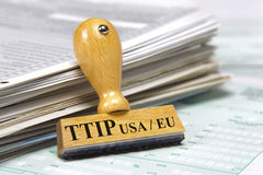 TTIP-frihandelsavtal royaltyfria bilder