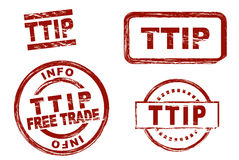 TTIP-Tinten-Stempelsatz stock abbildung