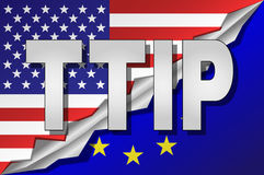 TTIP - Transatlantic Trade and Investment Partnership. Royalty Free Stock Images