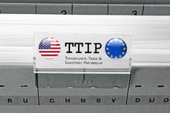 TTIP - Transatlantic Trade and Investment Partnership Royalty Free Stock Photo