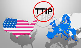 TTIP USA and Europe Stock Photography