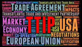 TTIP word cloud concept Royalty Free Stock Photo