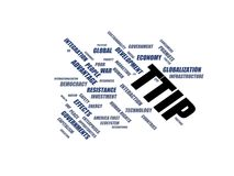 TTIP - word cloud wordcloud - terms from the globalization, economy and policy environment Stock Photos