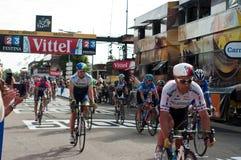 Ttour de Frankrike 2014 - ankomstcyklister Fotografering för Bildbyråer