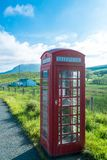 Ttraditional red telephone booth Royalty Free Stock Photos
