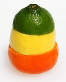 TTraffic light citrus fruit combination Royalty Free Stock Photography