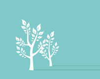 Ttree growth eco concept Background. Retro Concept Vector Illustration Stock Images