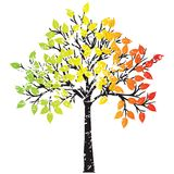 Ttree in rasta colors Stock Photography
