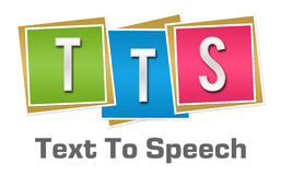 TTS - Blocos coloridos textos a expressão Fotografia de Stock