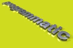 Título 3D programático Imagens de Stock