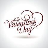 Título de la tarjeta del día de San Valentín Fotos de archivo libres de regalías
