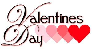 Título del día de tarjeta del día de San Valentín Foto de archivo