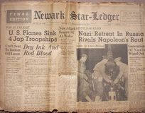 Título históricos da guerra de mundo Imagens de Stock Royalty Free
