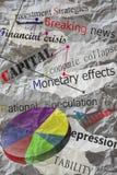 Títulos de periódico Imágenes de archivo libres de regalías