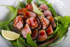 Tuńczyk sałatka z wapnem fotografia royalty free