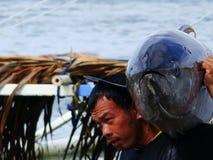 Tuńczyka żółtopłetwowy tuńczyka artisanal rybołówstwo w Philippines-8 Obraz Stock