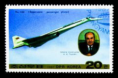TU-144, αεροπλάνο serie, circa 1987 Στοκ φωτογραφία με δικαίωμα ελεύθερης χρήσης