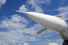 TU-144 αεροπλάνο στο διεθνές αεροδιαστημικό σαλόνι maks-2017 MAKS Στοκ Φωτογραφίες