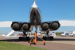 TU-144 μηχανές Στοκ Εικόνα