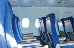在飞机的椅子 图库摄影