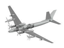 Tu-119. Nuclear aircraft. Stock Photos