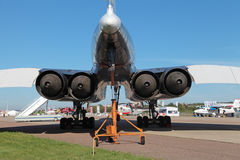 Tu-144 engines Stock Image