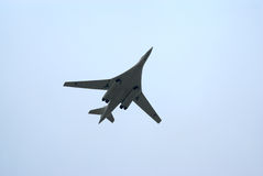 Tu-160 in flight Royalty Free Stock Photo