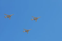 Tu-160 planes on parade Royalty Free Stock Images