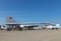 Tu-144 zdjęcia stock