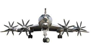 Tu-95 bomber. Tu-95 Bear Soviet bomber Royalty Free Stock Image