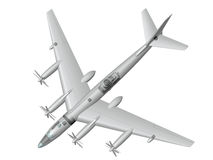 Tu-95LAL. Nuclear flying laboratory. Stock Image