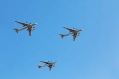 Tu-95ms planes on parade Stock Photo