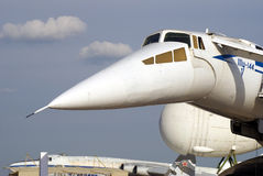 Tu-144 au salon aérospatial international de MAKS Image libre de droits